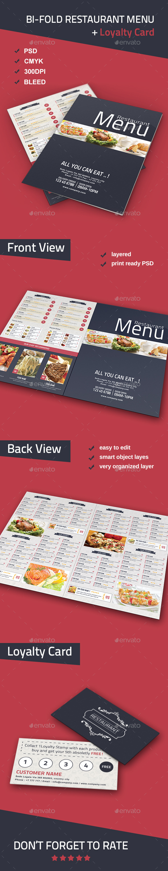Bi-fold Restaurant Food Menu - Food Menus Print Templates