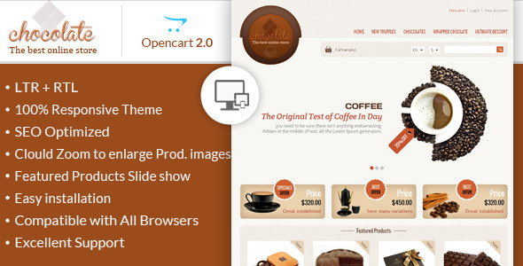Chocolate – OpenCart Responsive Theme