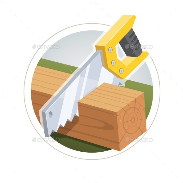Hacksaw Cut  Wooden Board - Man-made Objects Objects