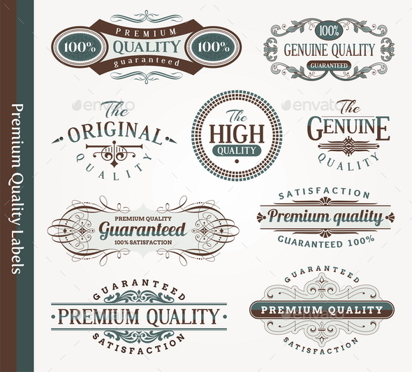 Decorative Labels of Quality - Decorative Vectors