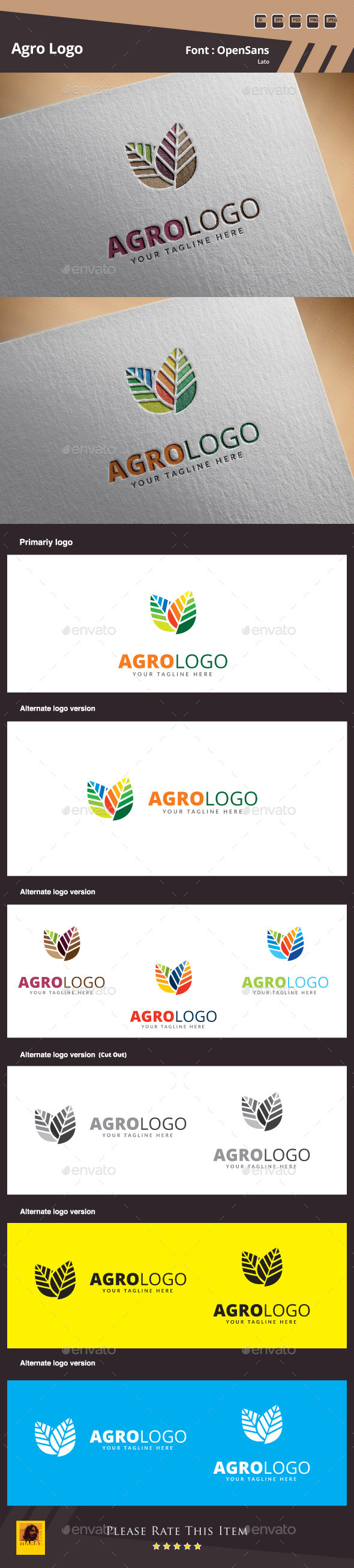 Agro Logo Template - Nature Logo Templates