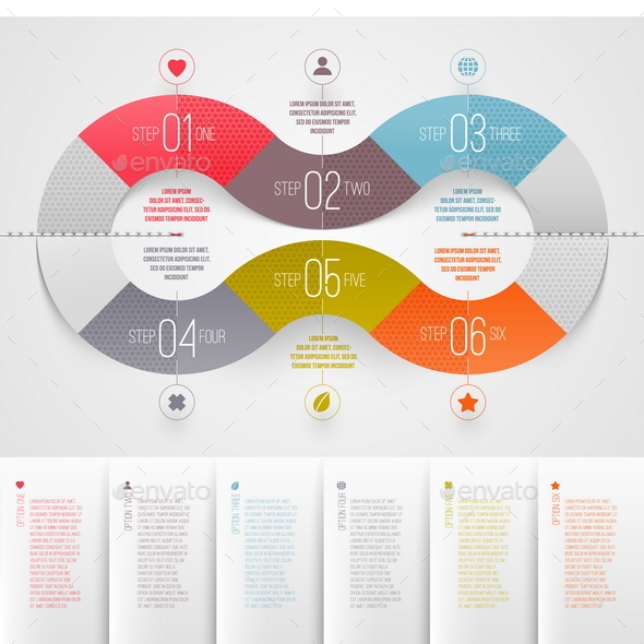 Template Infographics Design - Conceptual Vectors