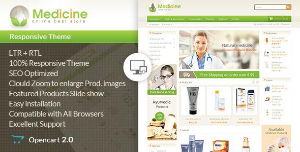 Medicine – Opencart Responsive Template