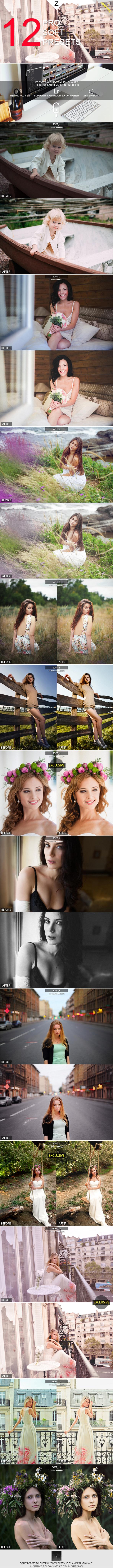 12 Pro Soft Presets - Portrait Lightroom Presets