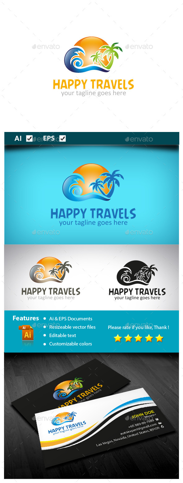Happy Travels  - Objects Logo Templates