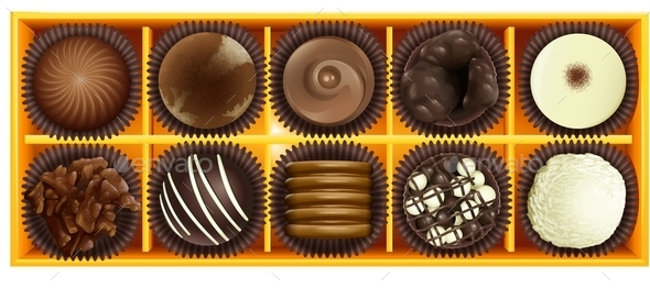 Chocolate - Food Objects