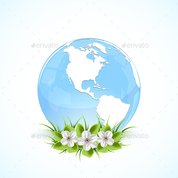 Globe with Flowers  - Miscellaneous Characters