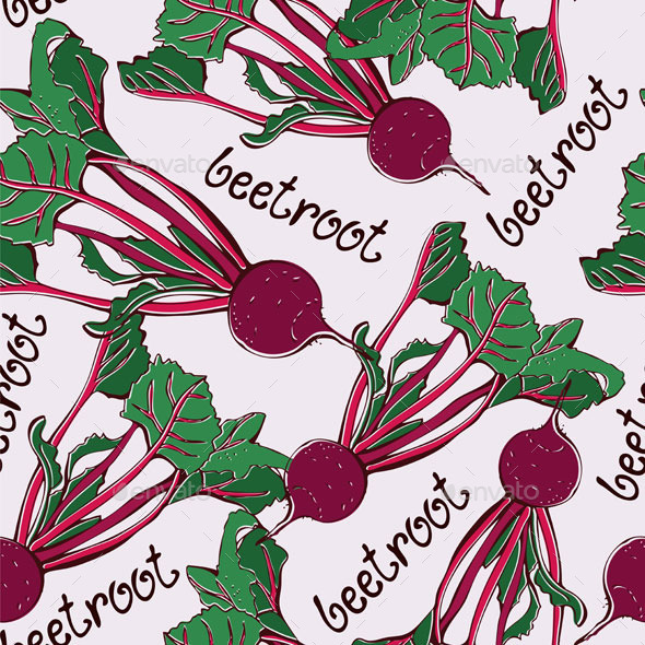 Beetroot Pattern - Food Objects