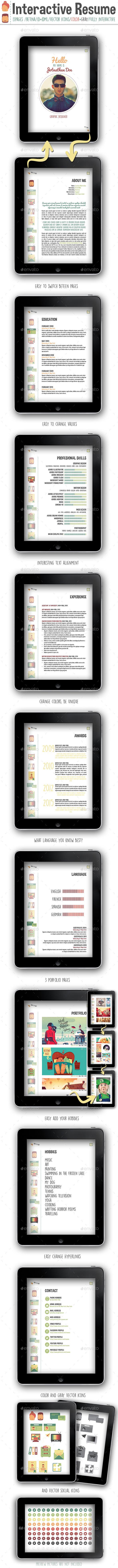 Interactive Resume PDF