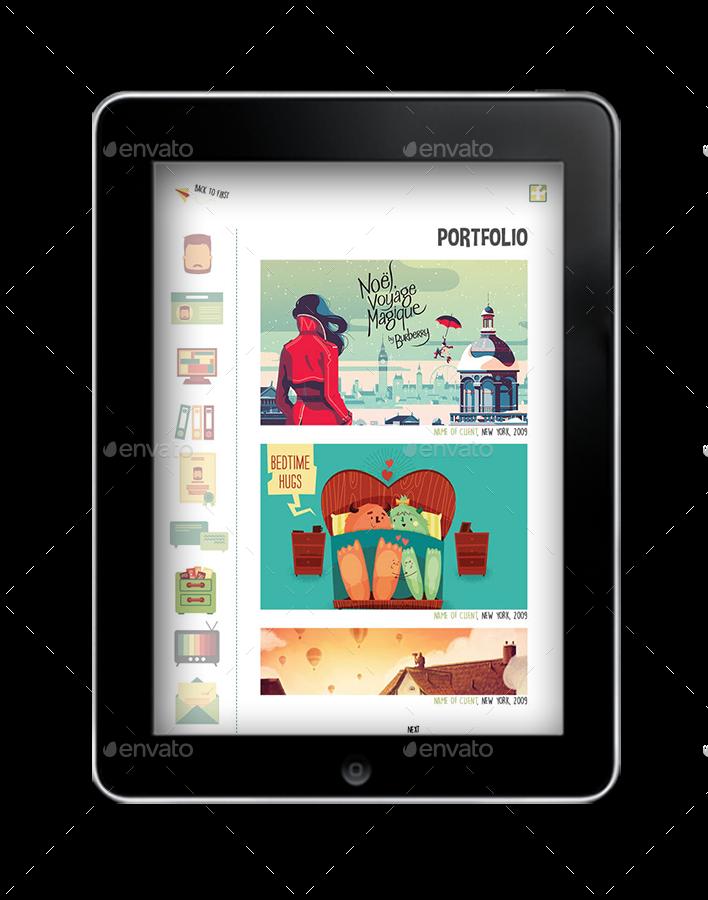 interactive resume pdf by crew55design graphicriver