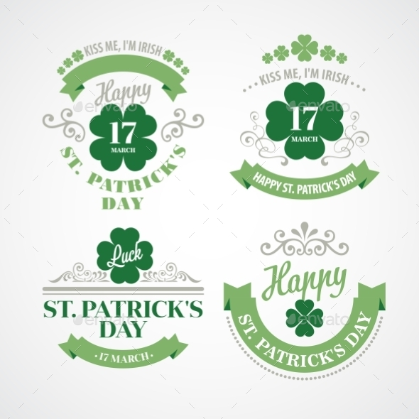 Typography St Patricks Day Emblems - Miscellaneous Seasons/Holidays