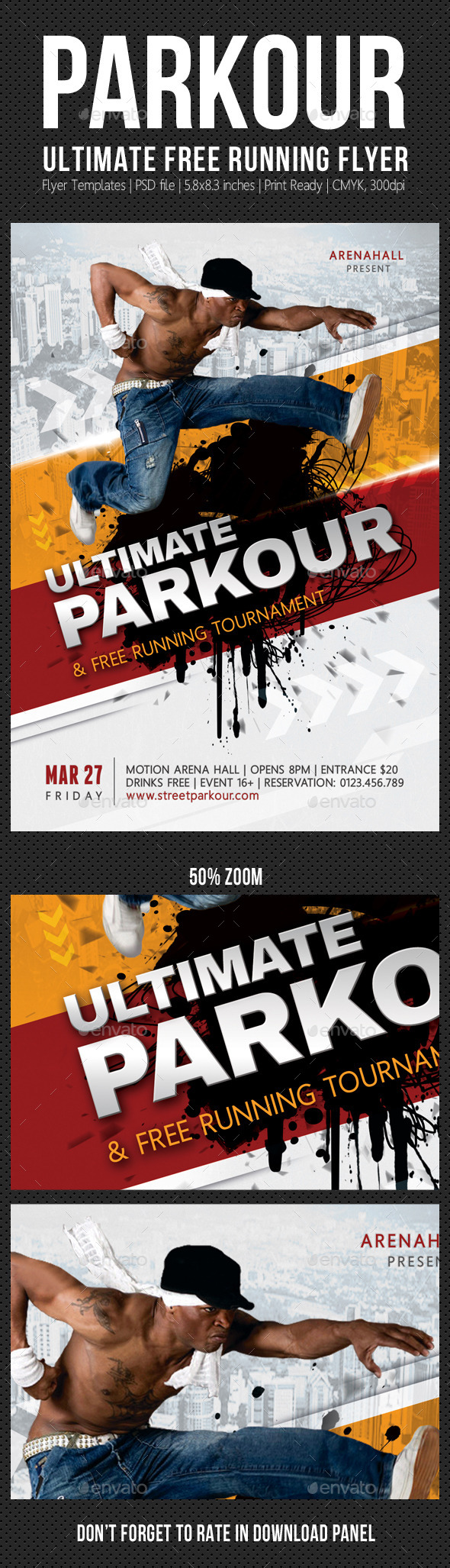Ultimate Parkour Free Running Flyer - Sports Events