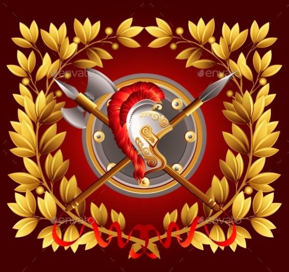 Antique Arms and a Laurel Wreath - Backgrounds Decorative