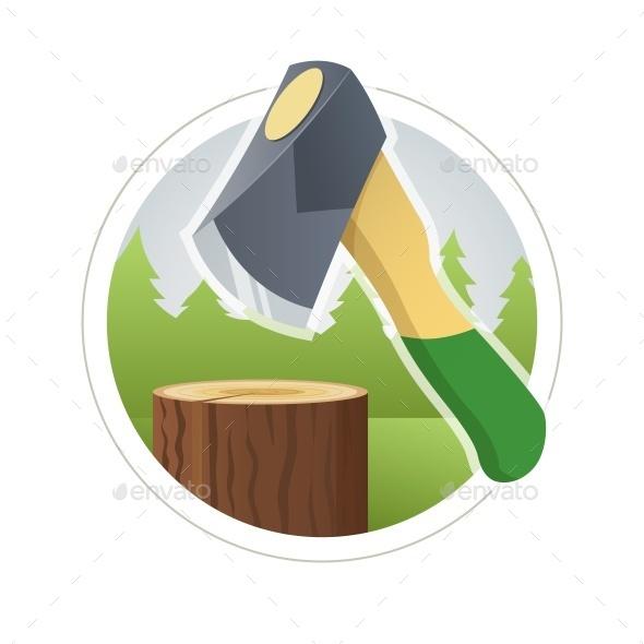 Ax Chop Wooden Log - Industries Business