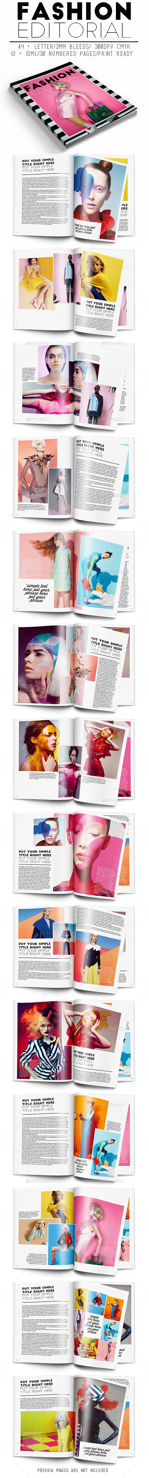 Fashion Editorial - Magazines Print Templates