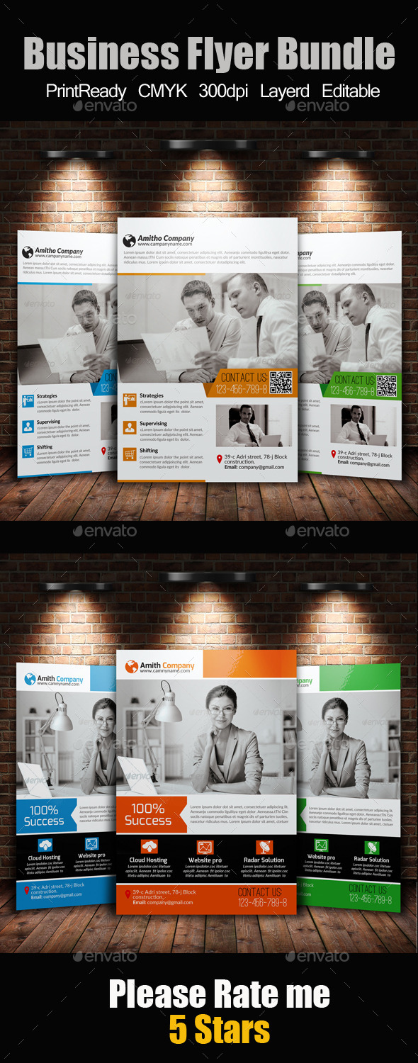A4 Business Flyer Template Bundle - Corporate Flyers