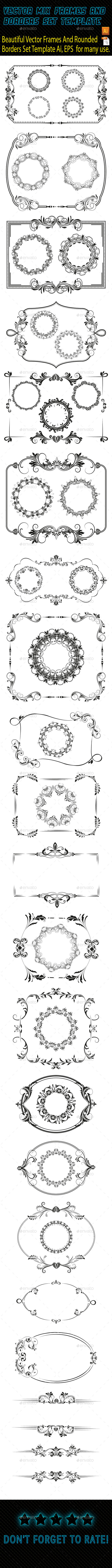 Frames and Borders Template - Borders Decorative