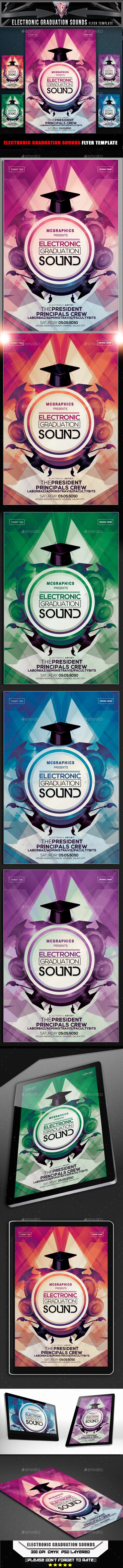 Electronic Graduation Sounds Flyer Template - Events Flyers