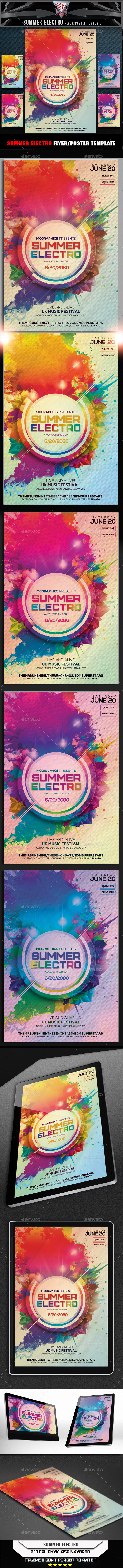 Summer Electro Flyer Template - Events Flyers