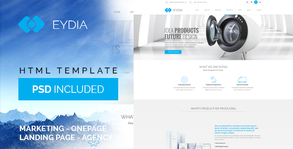 Image of Eydia | Responsive Multi-Purpose HTML5 Template