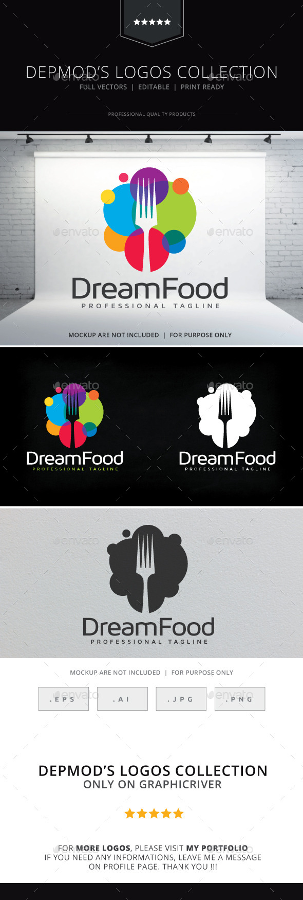 Dream Food Logo - Food Logo Templates