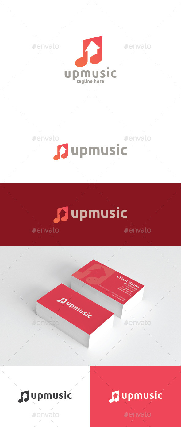 Up Music - Symbols Logo Templates