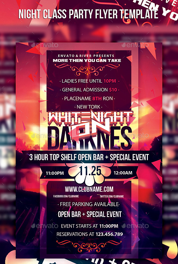 Night Class Party Flyer Template - Events Flyers