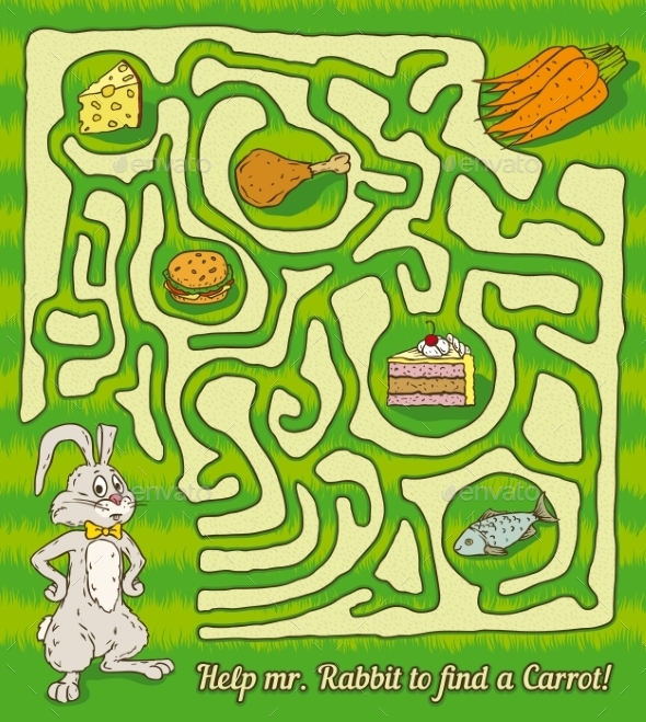 Rabbit Maze Game - Miscellaneous Vectors