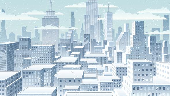 Cityscape Winter - Buildings Objects