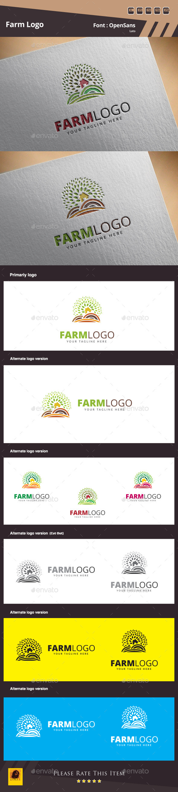 Farm Logo Template - Nature Logo Templates