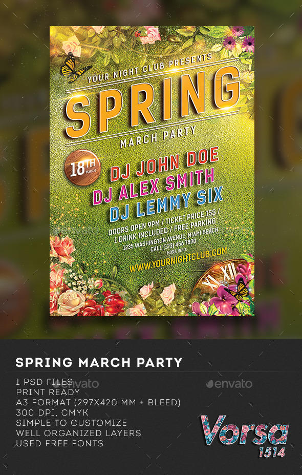 Spring March Party - Clubs & Parties Events