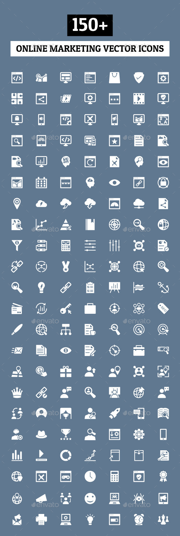 150+ Online Marketing Icons - Web Icons