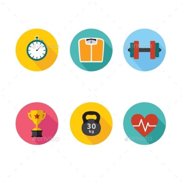 Healthy Lifestyle Icons - Health/Medicine Conceptual