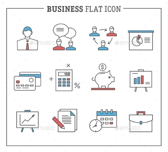 Business and Finance Icons - Web Technology