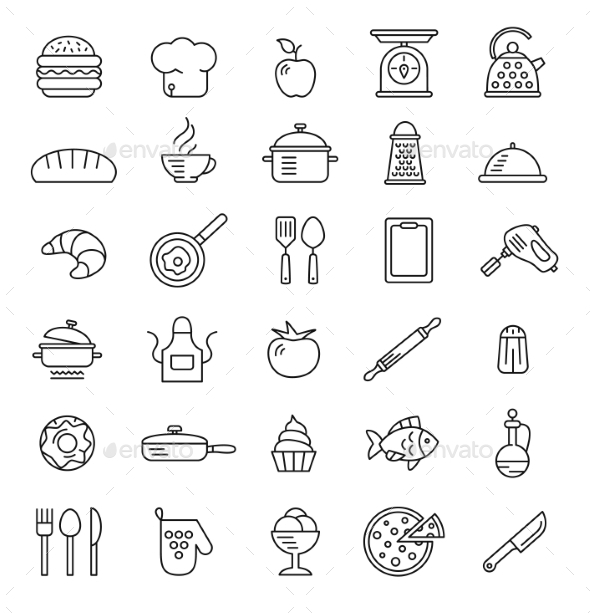 Cooking Icons - Food Objects