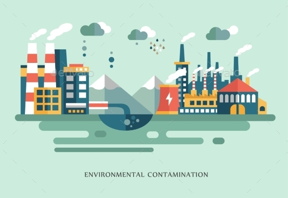 Pollution Landscape - Buildings Objects