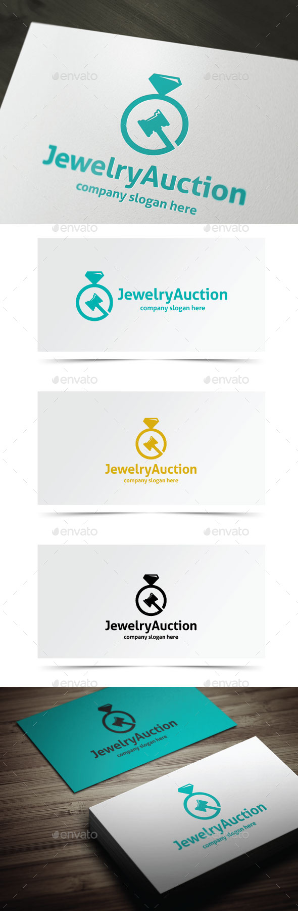 Jewelry Auction - Objects Logo Templates