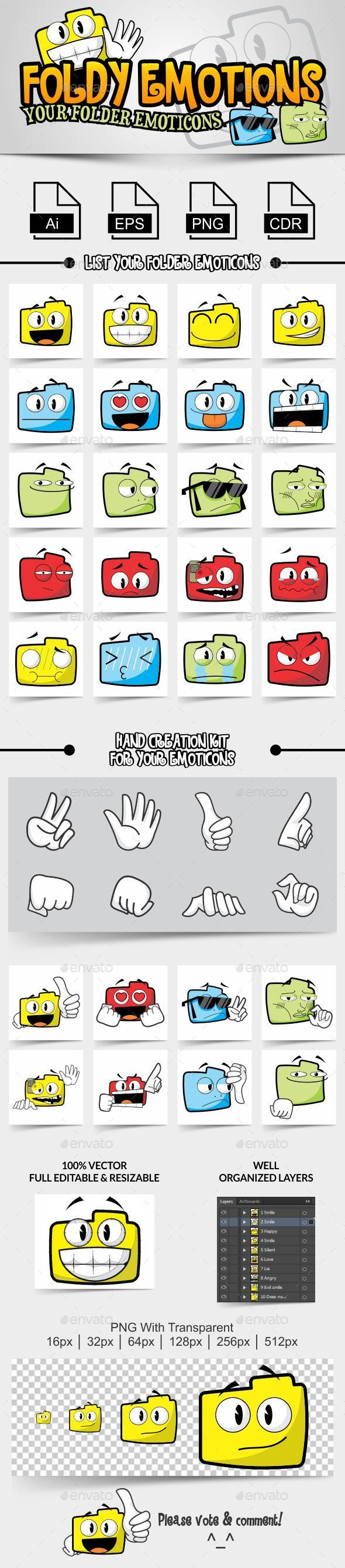 Foldy Emotions Your Folder Emoticons - Miscellaneous Characters