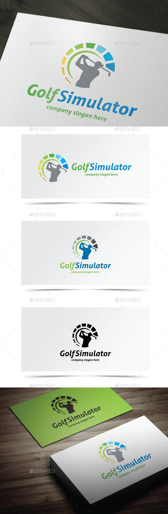 Golf Simulator - Humans Logo Templates