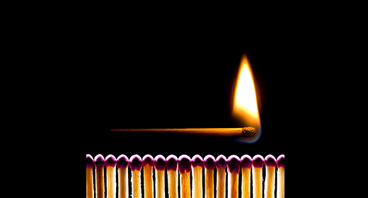 Matches and fire (metaphor)