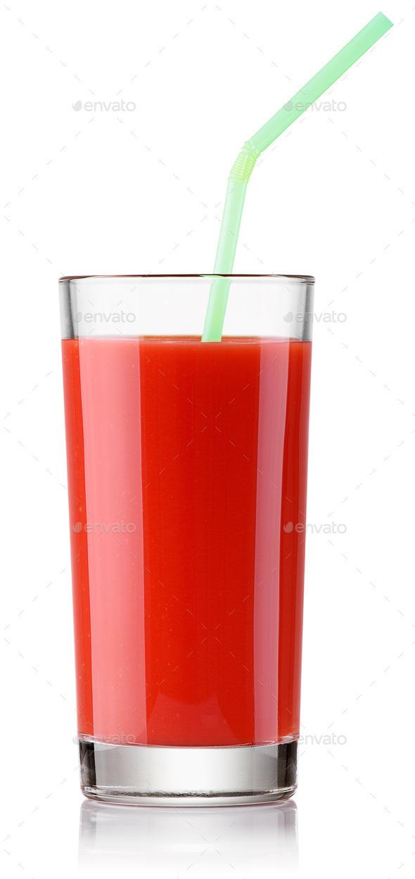 fresh tomato juice - Stock Photo - Images