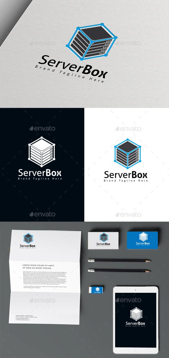 Server Box - Symbols Logo Templates
