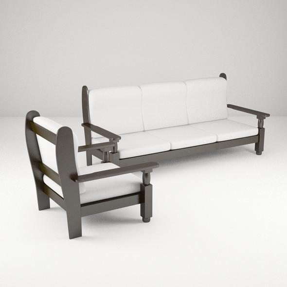 Wooden Sofa Model By Bm Ocean