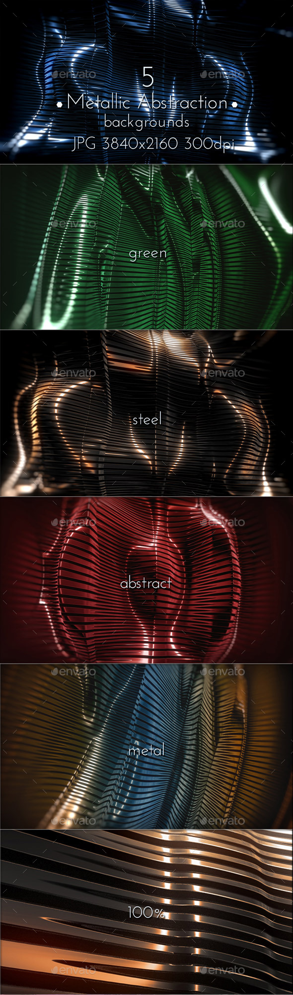 Metallic Abstraction 3D - Tech / Futuristic Backgrounds
