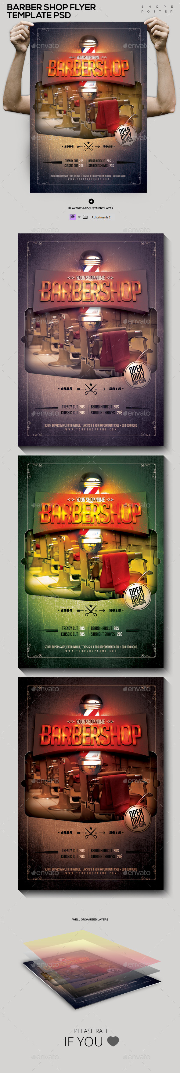 Barbershop Template PSD Flyer/Poster - Corporate Flyers
