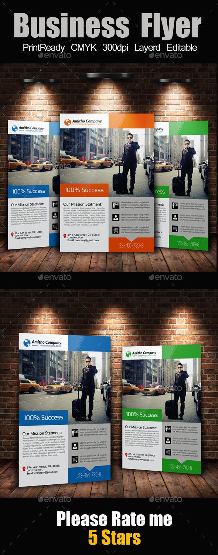 A4 Business Flyer Template - Flyers Print Templates