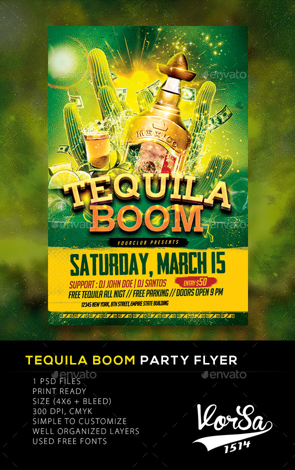 Tequila Boom Party flyer - Clubs & Parties Events