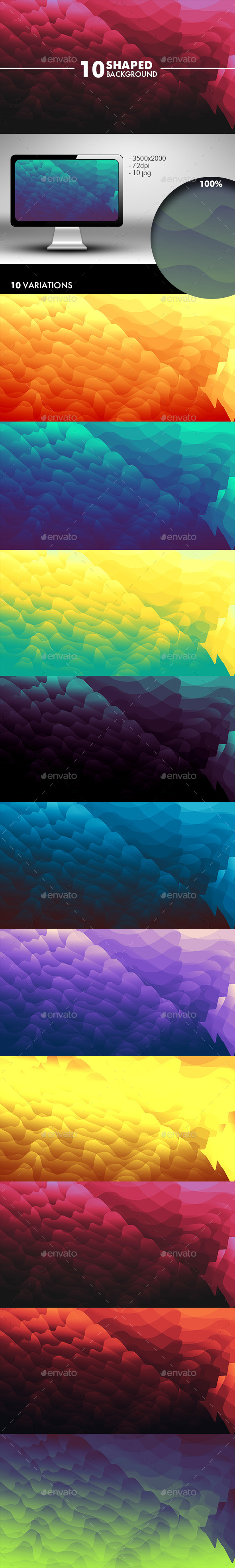 Shaped Wave Background  - Abstract Backgrounds