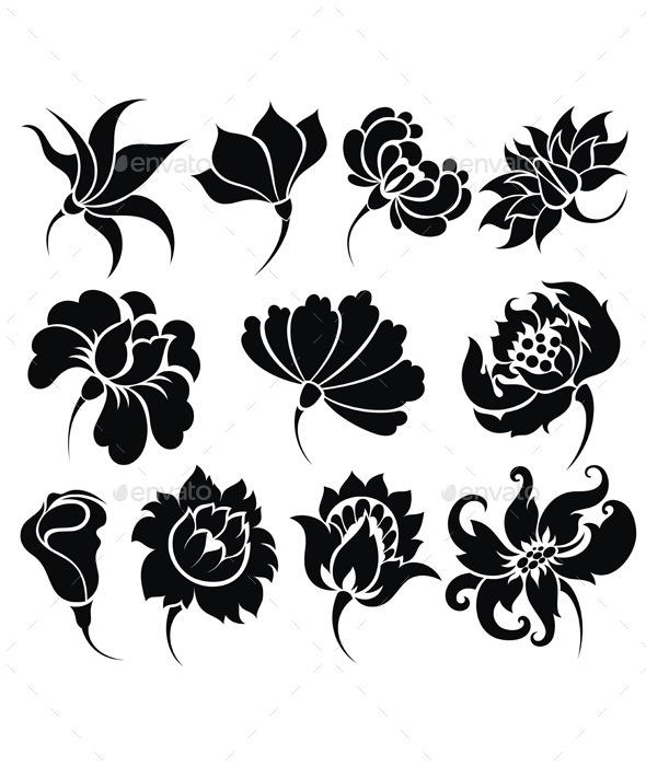 Flower Icon Set - Flowers & Plants Nature
