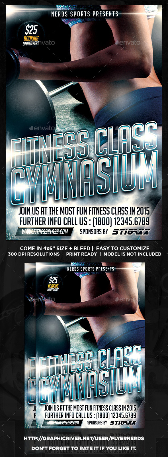 Fitness Class Sports Flyer - Sports Events